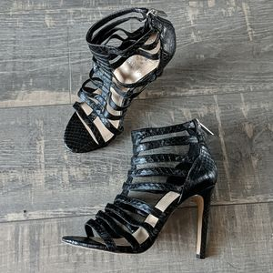 Vince Camuto Kamella Embossed Leather Heels BX159